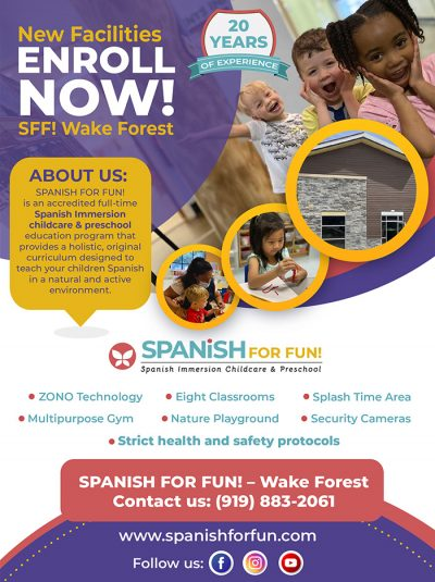 Wake Forest daycare - Spanish For fun