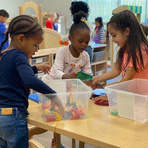 Preschool day care graduation children